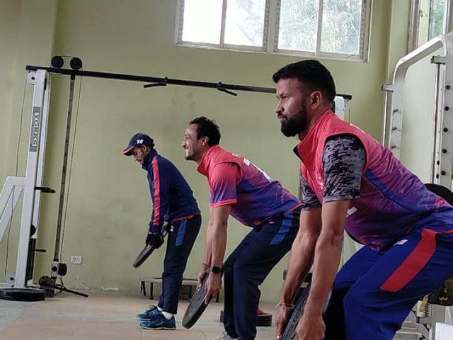 नेपाली क्रिकेटरहरुकोे बन्द प्रशिक्षण (फोटो फिचर)