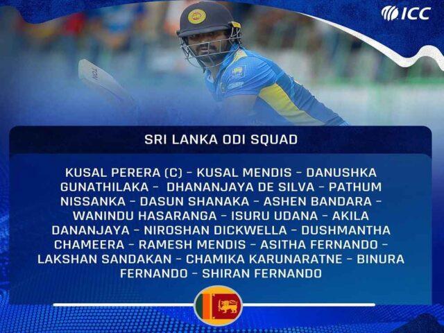 परेराको कप्तानीमा श्रीलंकाली टोलिको घोषणा